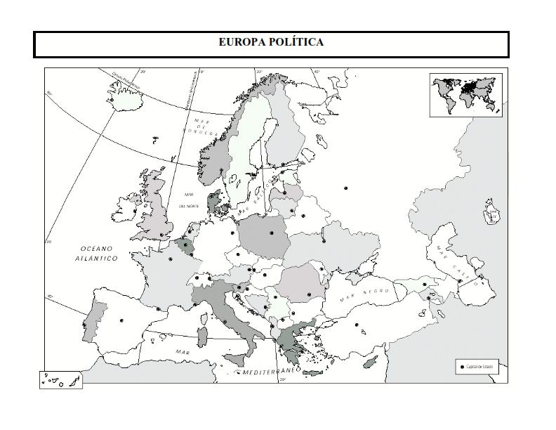 Mapas polticos de los continentes